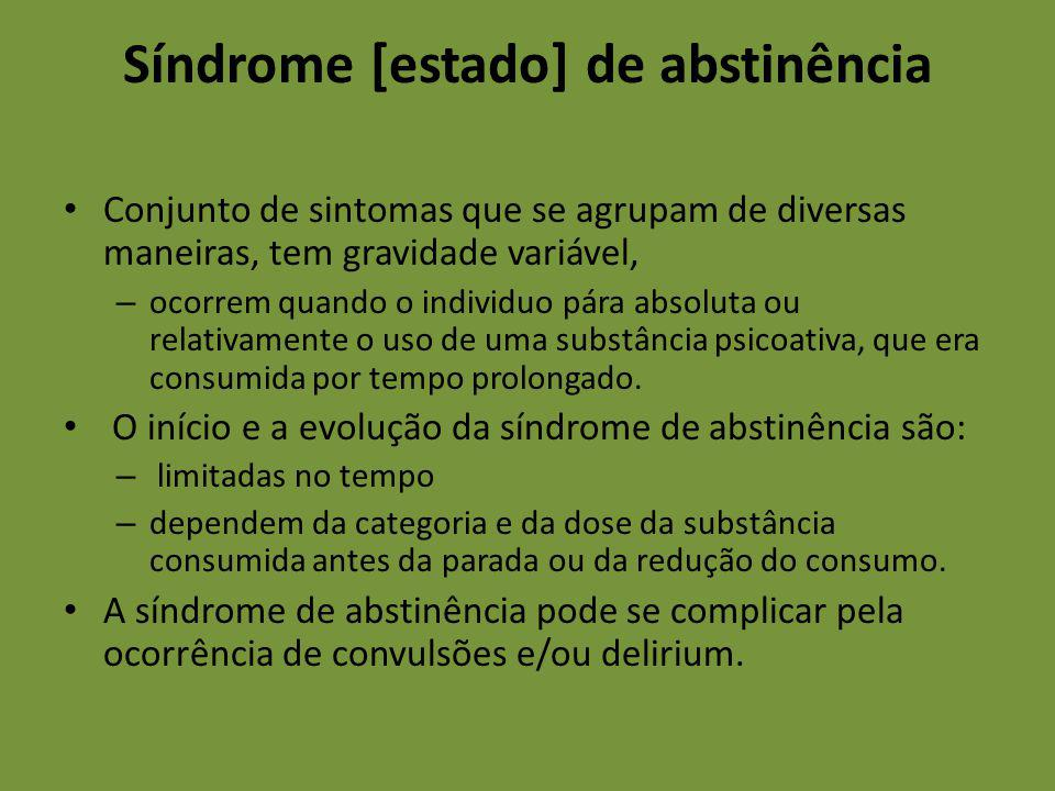 Síndrome [estado] de abstinência